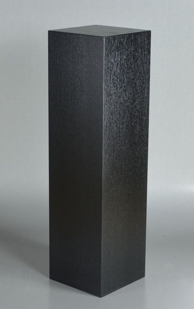 london oak large pedestal home. black lacquered oak art display pedestal london large home