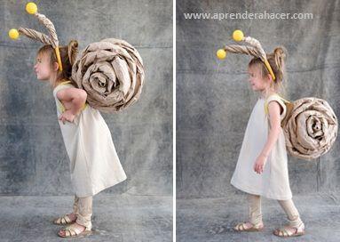 DIY fastelavn kostume snegl hurtigt nemt