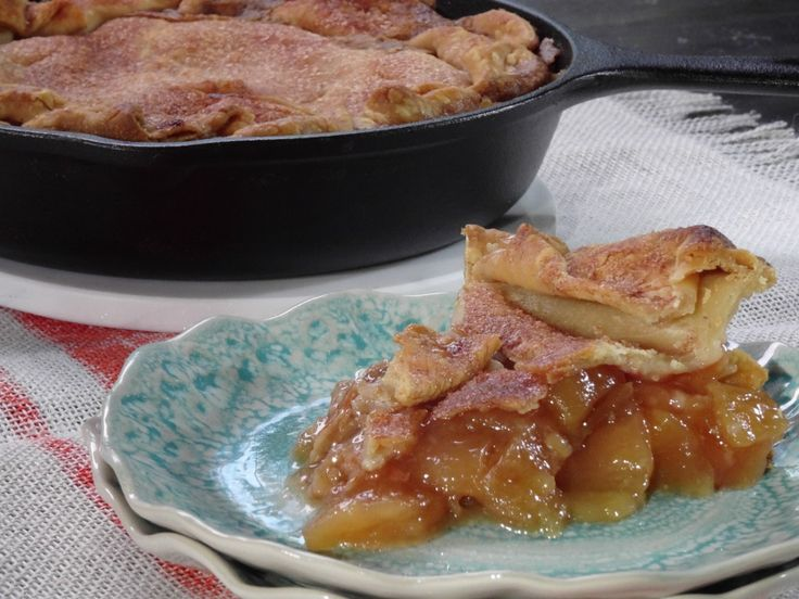 Skillet Apple Pie with Cinnamon Whipped Cream Recipe : Trisha Yearwood : Food Network - FoodNetwork.com