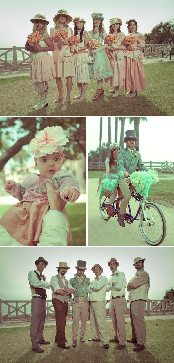 Wedding Old School.: Grooms Style, Bike Wedding, Vintage Weddings, Vintage Colors, Vintage Bridal, Wedding Groomsmen, Wedding Hats, Vintage Bike, Tops Hats