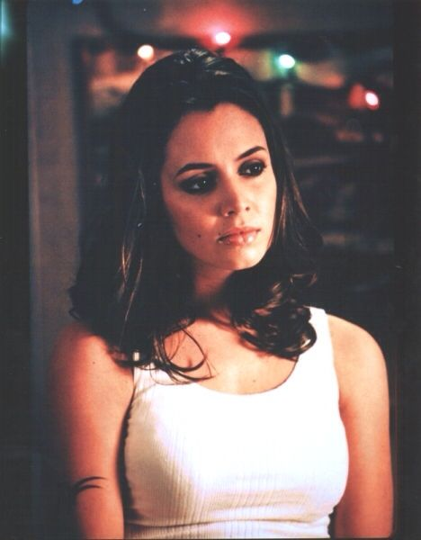 Eliza Dushku as Faith Lehane in Buffy the Vampire Slayer.