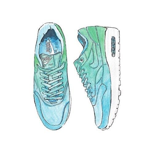 Good objects - Nike air max @nike #nike #fashionillustration #illustration #art #watercolour #goodobjects