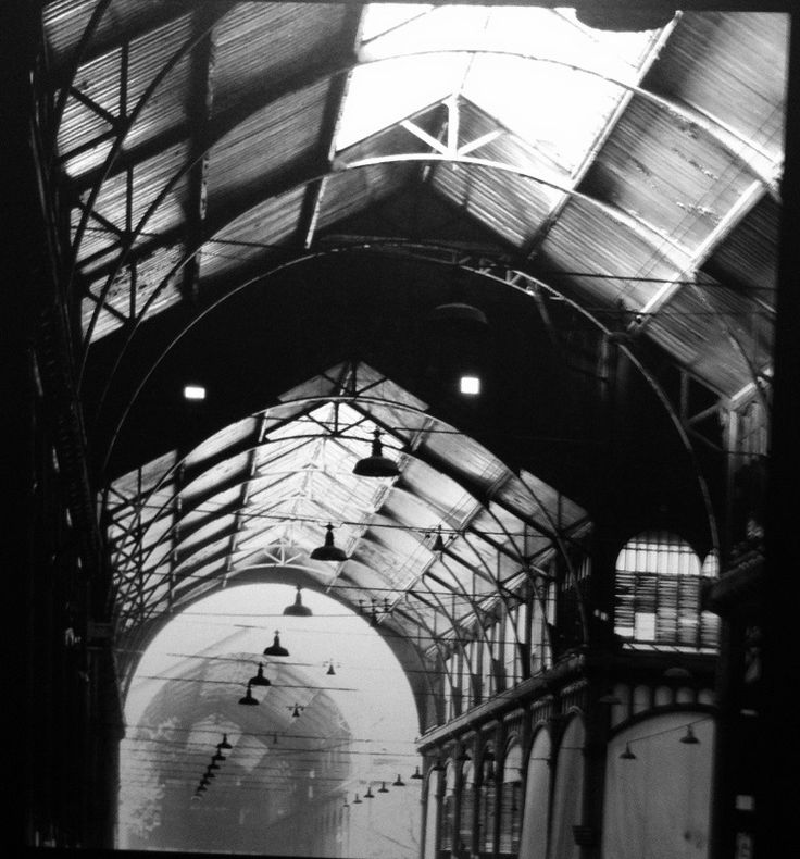 Robert Doisneau //    Pavillon Baltard, 1968 in Paris. (  http://www.gettyimages.co.uk/detail/news-photo/the-baltard-hall-of-les-halles-was-classified-as-a-news-photo/139408554