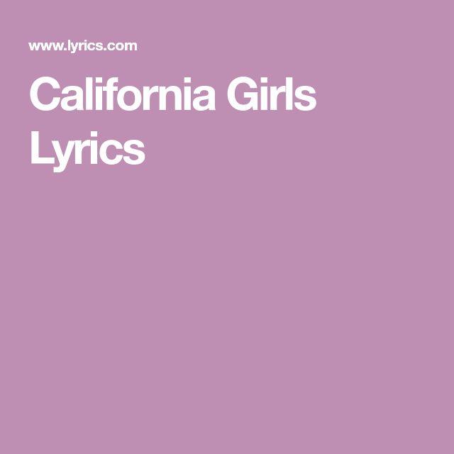 California Girls Lyrics