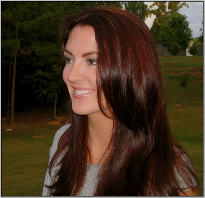 Deep Auburn Hair Color On Dark Skin