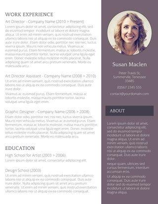 71 best Resume Templates images on Pinterest Resume templates - sophisticated resume templates