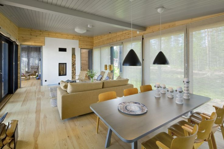 Honka Blockhaus Modell Lokki Esszimmer
