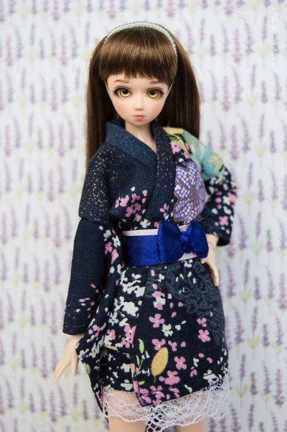 Short Kimono for Obitsu Momoko Azone Unoa by GreyfauxxCollection