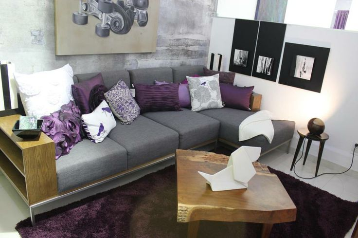Gray Purple Living Room New Decorating Ideas Pinterest
