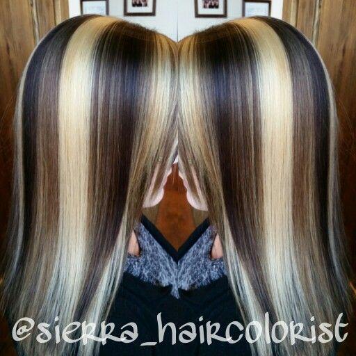 Fun Hair Color Highlight Lowlights Lanza Color Chunky