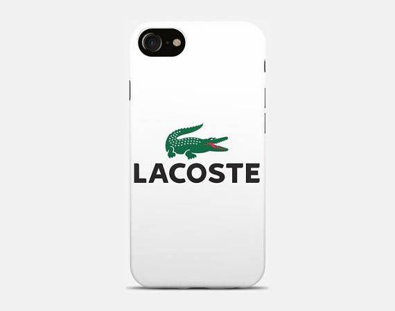 Cena fabryczna bardzo popularny 50% ceny Lacoste white logo iPhone Cases & Skins for X 8/8 Plus case ...