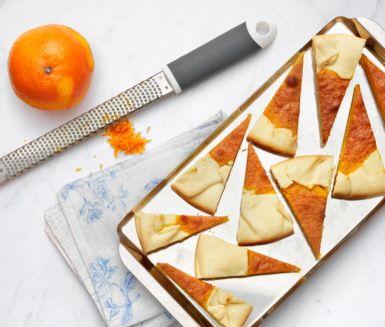 Recept: Mazarinkaka med saffran och apelsin