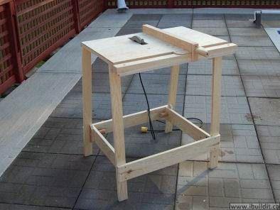Home made table saw using a regular circular saw