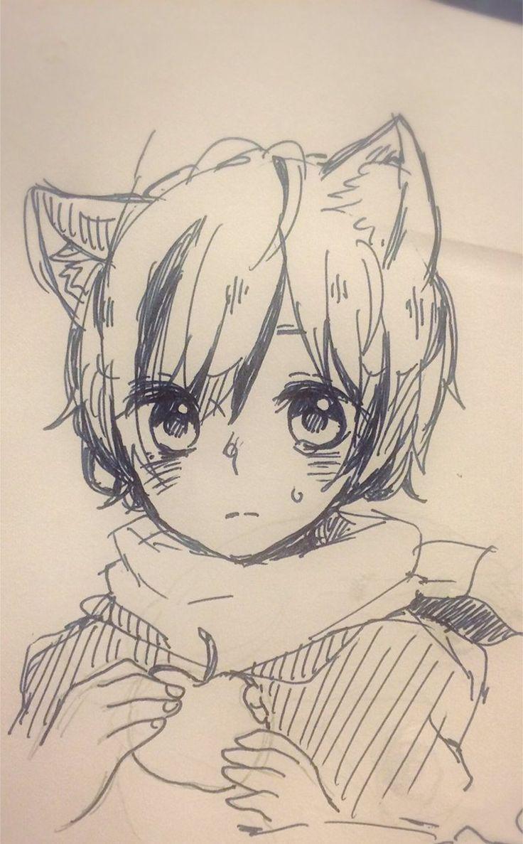 Sora Wolf Anime Drawings Boy Anime Sketch Manga Drawing
