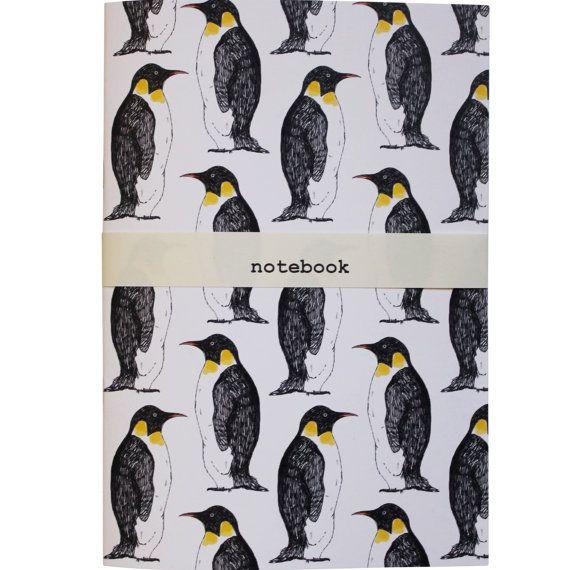Penguin Notebook   blank notebook bird notebook  a5