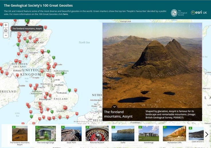 The Geological Society's 100 Great Geosites - http://apps.esriuk.com/app/GreatGeosites/3/wmt/view/5e0d44970b3a4b4dafb7da0404b2d8ed/index.html
