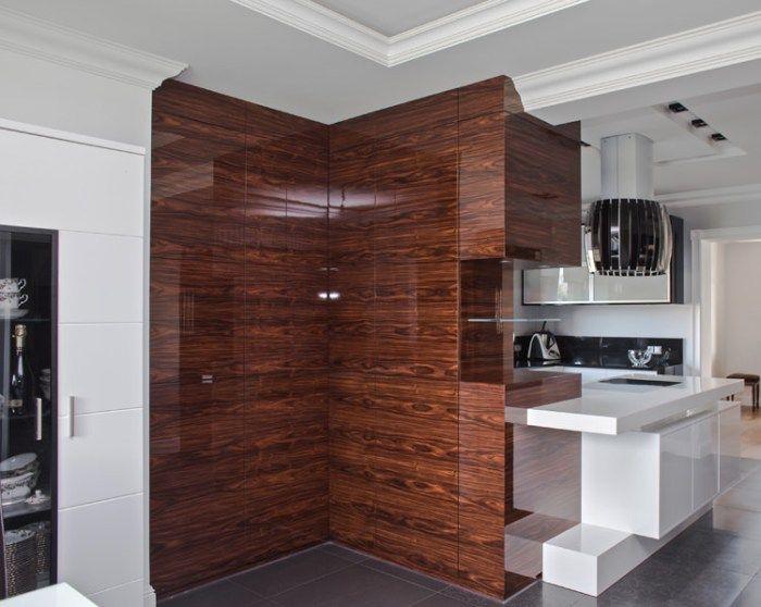 Kuchnia Fornir Palisander Połysk Meble Furniture Home