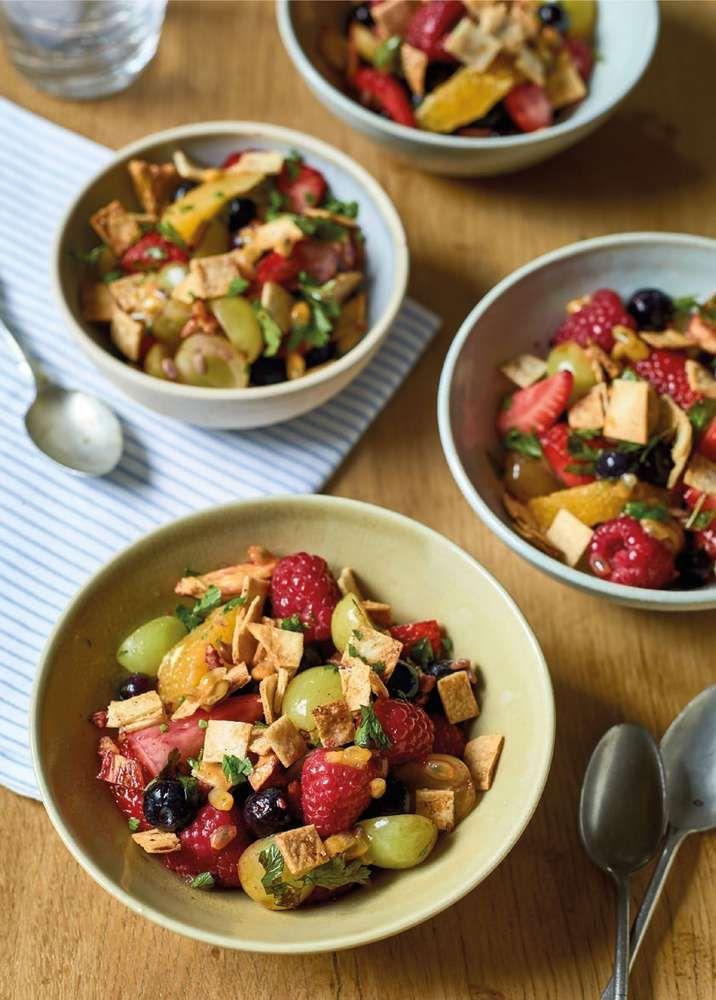 Nadiya Hussain S Fruit Salad Fattoush Recipe Vegetable Salad