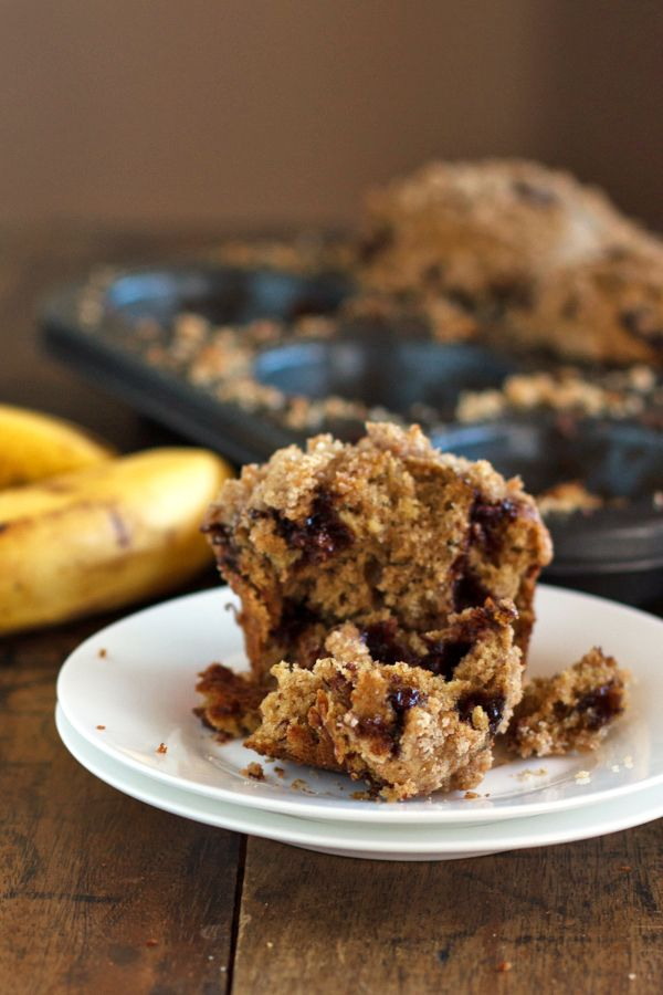 Whole Wheat Chocolate Chip Banana Peanut Butter Muffins ...