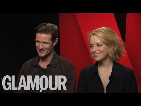 Netflix Cast of The Crown Matt Smith and Claire Foy talk Royals and The Crown | Glamour UK - YouTube