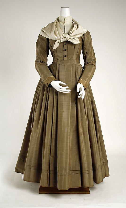 Ensemble: ca. 1870, American, silk, wool.