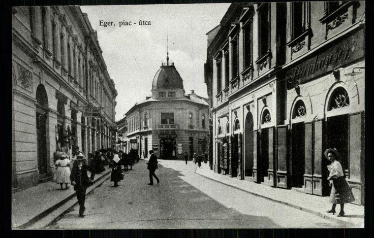 Eger, Piac utca - mai Bajcsy-Zsilinszky Endre utca