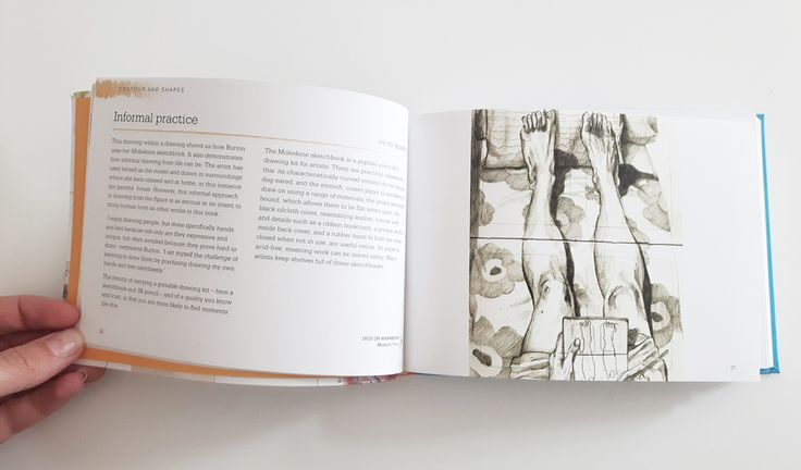"""Blog post: """"Drawn From Life"""" book. Drawing by Heidi Burton - legs on Marimekko sketch. Click to read the post!"""