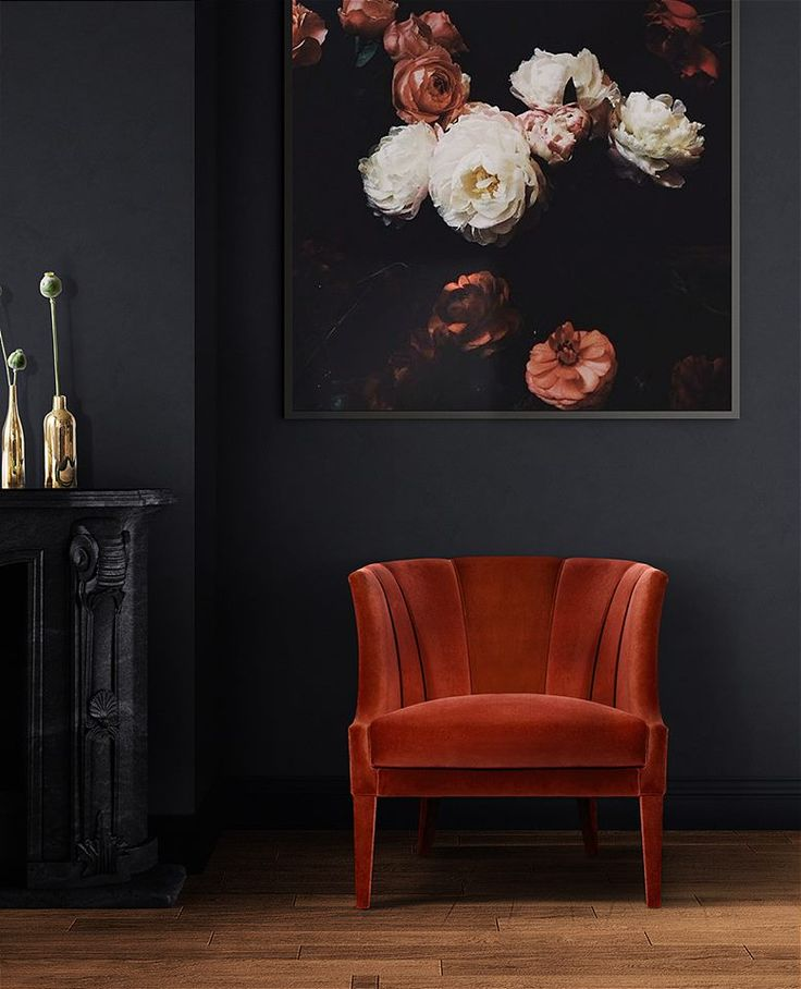 Gorgeous red armchair design by Brabbu