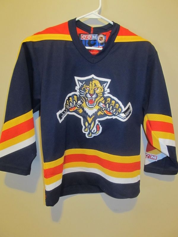 Vintage CCM Florida Panthers Hockey Jersey , Youth small / medium - Hockey-NHL