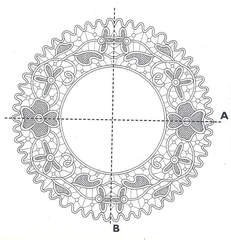 Romanian point lace crochet pattern