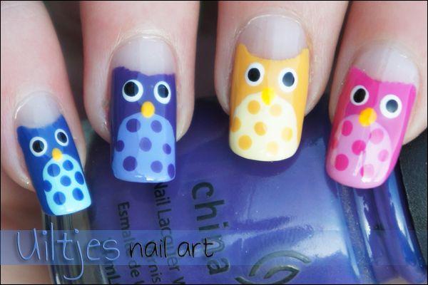 Nailart, owls