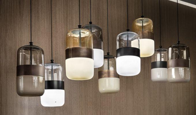 Závěsné svítidlo Futura, ručně foukané sklo, design Hangar Design Group, vyrábí Vistosi