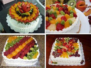 Curso de Decoração de Bolos: Receita de Bolo Decorado com Frutas