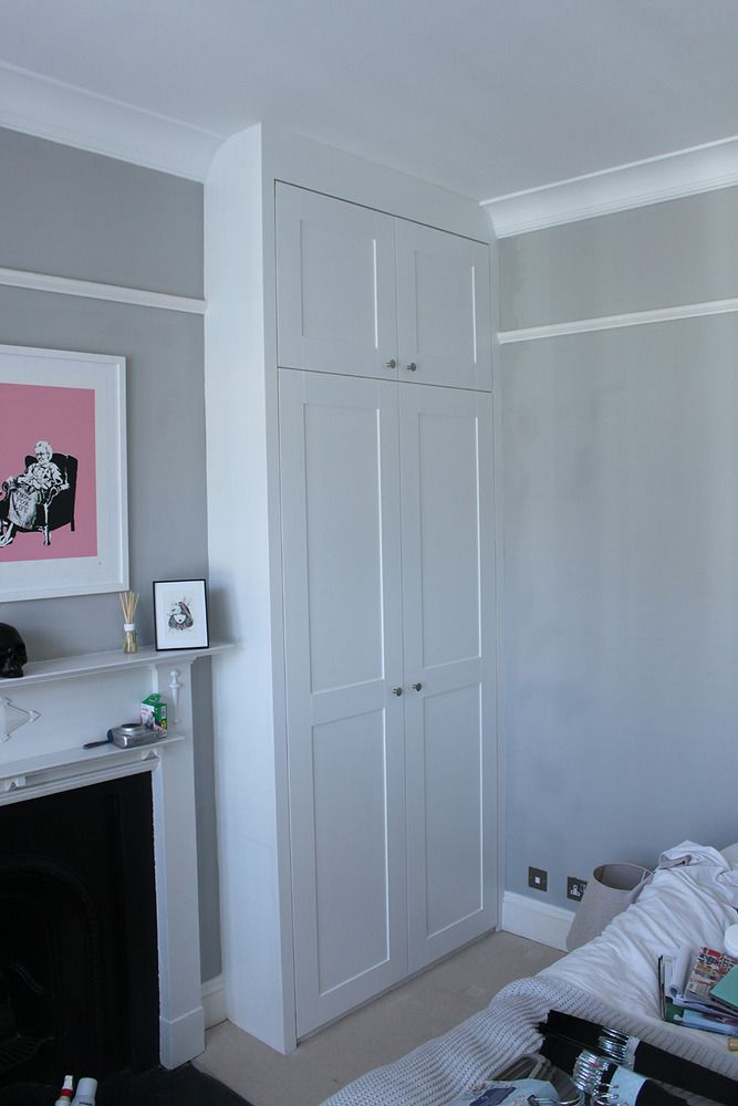 fitted wardrobes chimney breast - Google Search - picture rail??
