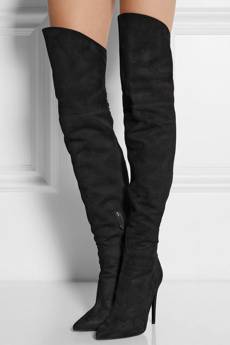 Miu Miu|Suede over-the-knee boots