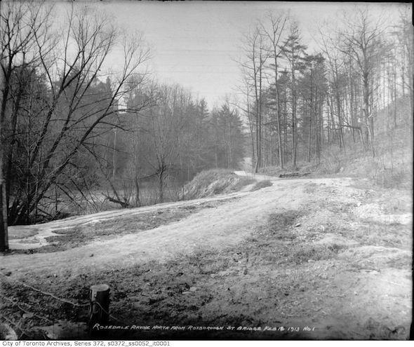 Castle Frank Brook in Toronto, circa 1913.