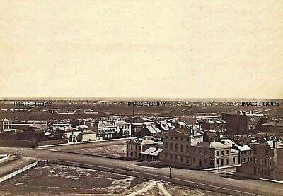 Collins and Spring Streets junction in Melbourne in 1869.