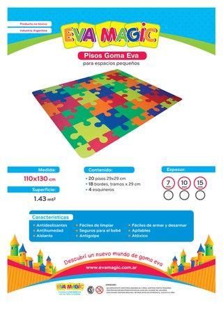 OFERTA + ENVIO GRATIS !! Piso Rompecabeza, espacio 110x130cm  - comprar online
