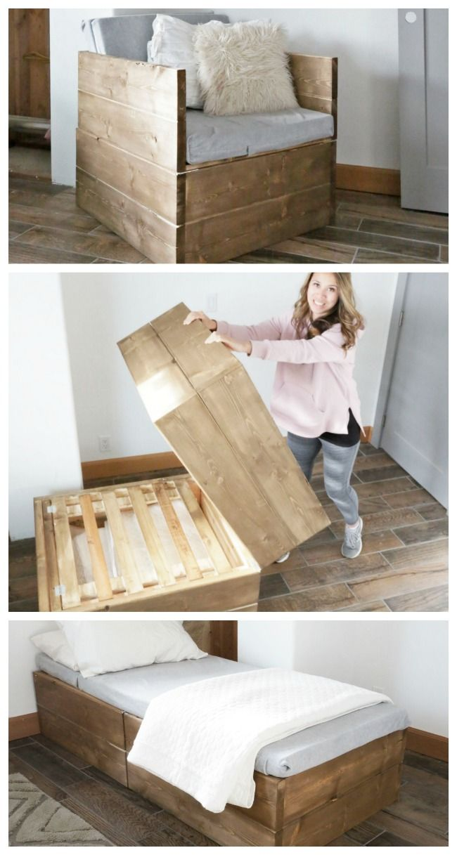Twin Sleeper Chair  Home projects, Diy furniture, Home diy