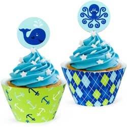Boys birthday cupcake liner