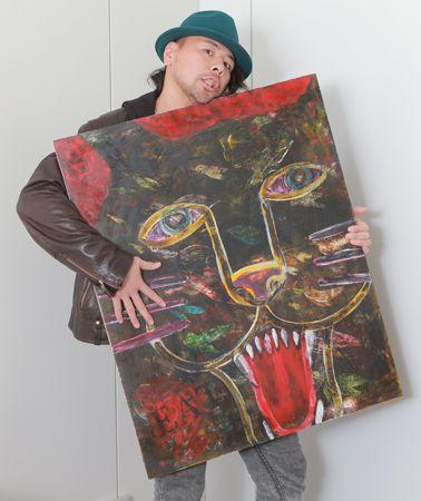 俺の趣味! 第2回 中邑真輔 アートを語る!「絵を描くときは自分を解放しちゃっていい。自由を体感できるんですよ」