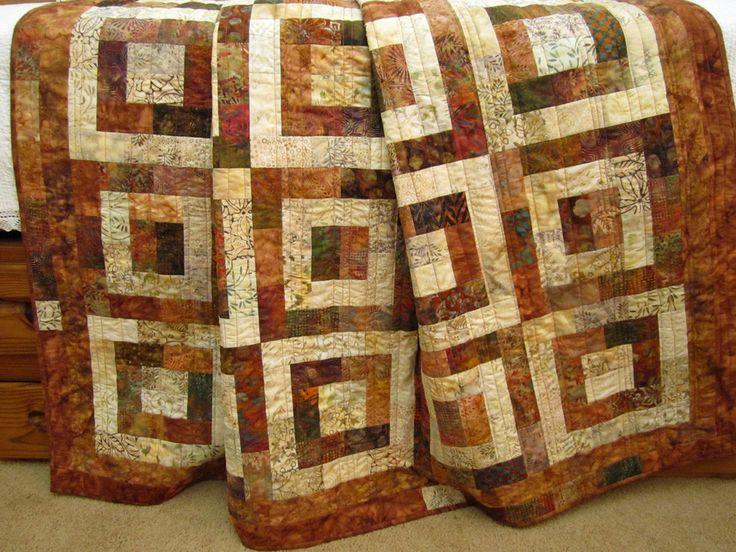 118 best Batik Quilt Designs images on Pinterest | Batik quilts ... : brown patchwork quilt - Adamdwight.com