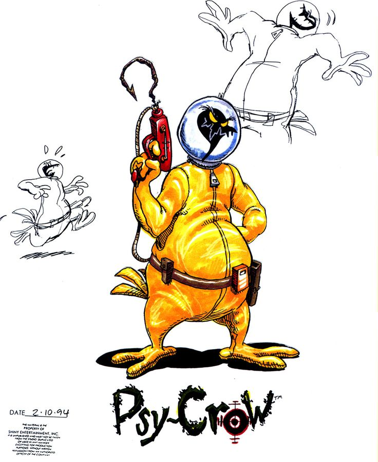 Earthworm Jim Concept Art and Paintings by the original video game team at Shiny… – Earthworm Jim