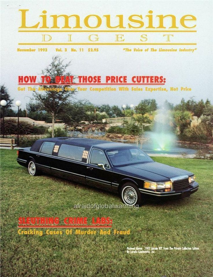 1993 lincoln continental town car stretch limousine by