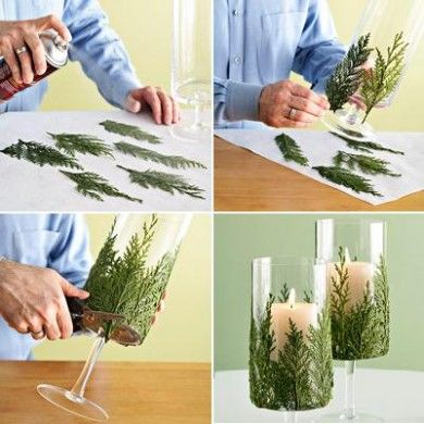 Turn Your Candle Glass Holder Into Something Special This Season With This  Quick And Easy Idea. WeddingideasCandleholdersCandlesticksChristmas ...