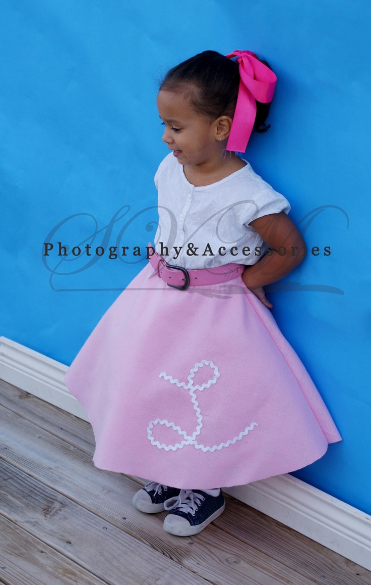 Personalized Pink Lady Poodle Skirt Made To Order 12mo 4T 2500 Via Etsy