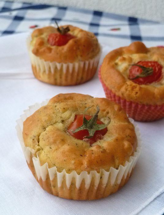 Muffins con feta e spezie