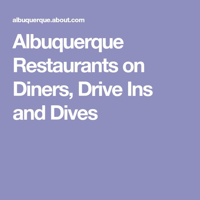 Albuquerque Restaurants on Diners, Drive Ins and Dives