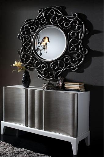 Elegante mueble recibidor de madera de abedul acompa ado - Sofas elegantes diseno ...