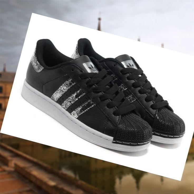Zapatos negros Adidas Superstar 80S para hombre kDDicQimOV